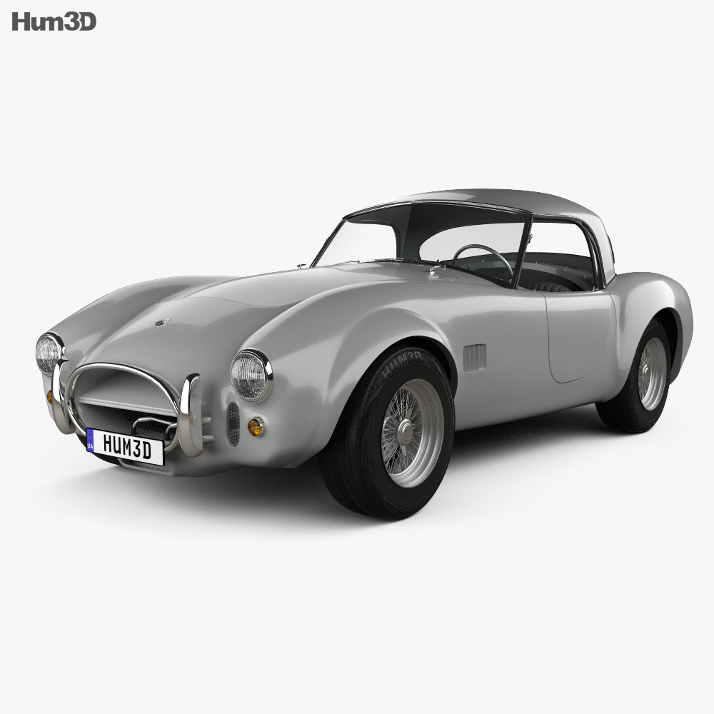3D model of AC Shelby Cobra 289 roadster 1966