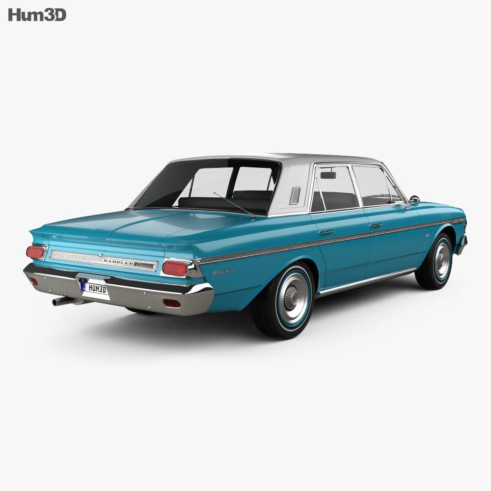 AMC Rambler Classic 770 4-door sedan 1964 3d model back view