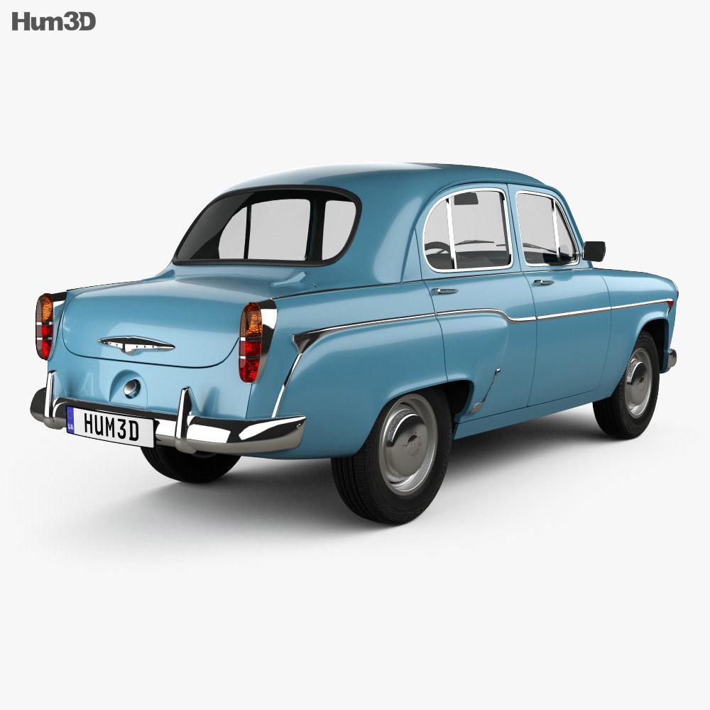 MZMA Moskvich 402 1956 3d model