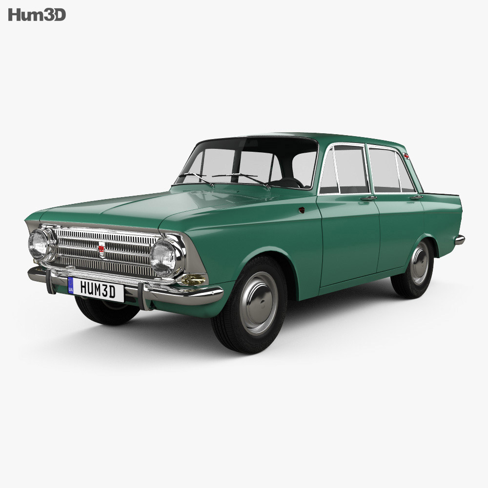 AZLK Moskvich 408 1964 3d model