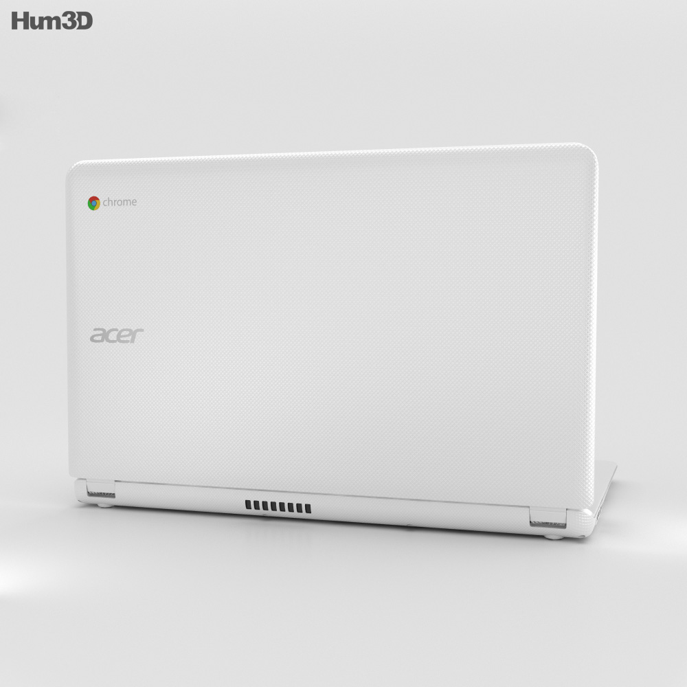Acer Chromebook 15 White 3d model