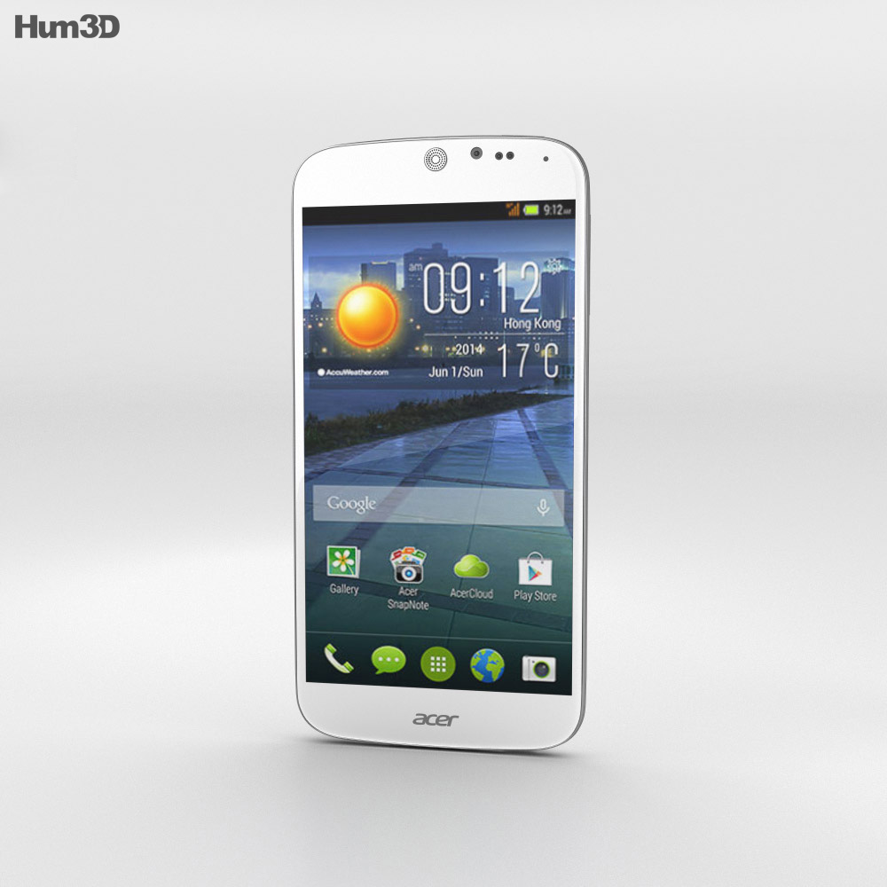 Acer Liquid Jade White 3d model