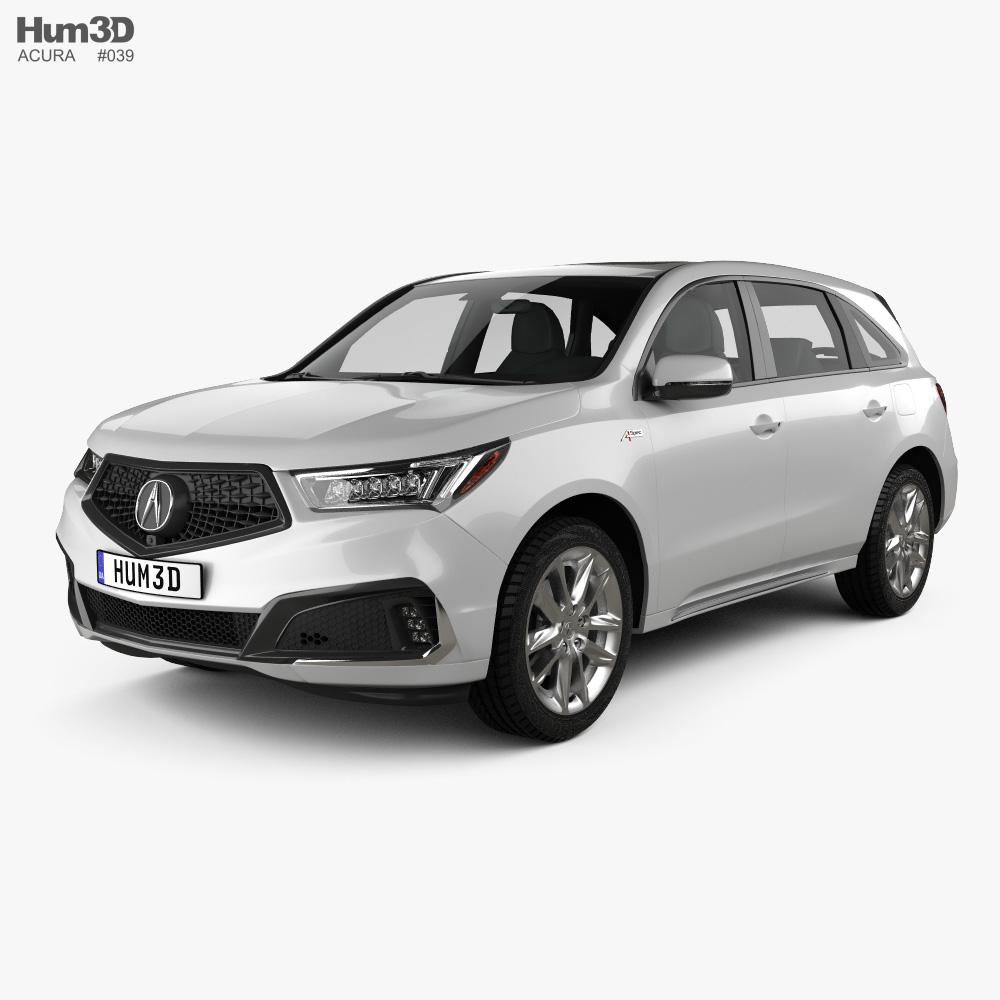 Acura MDX A-Spec 2018 3d model