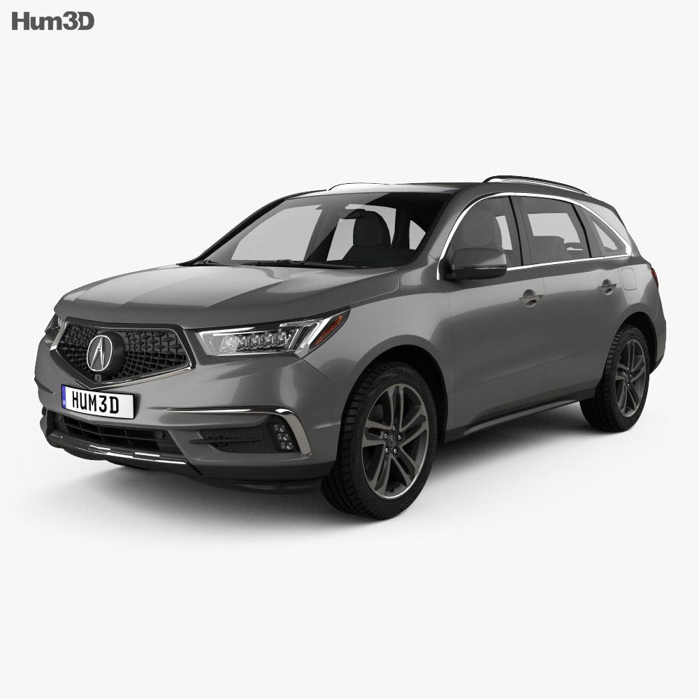 Acura MDX Sport Hybrid 2017 3D Model