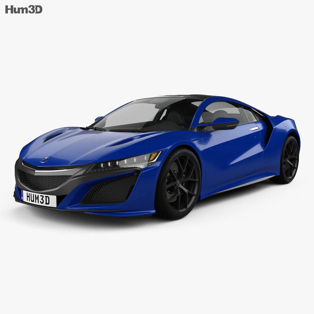 Acura Nsx: Acura NSX 2016 3D Model