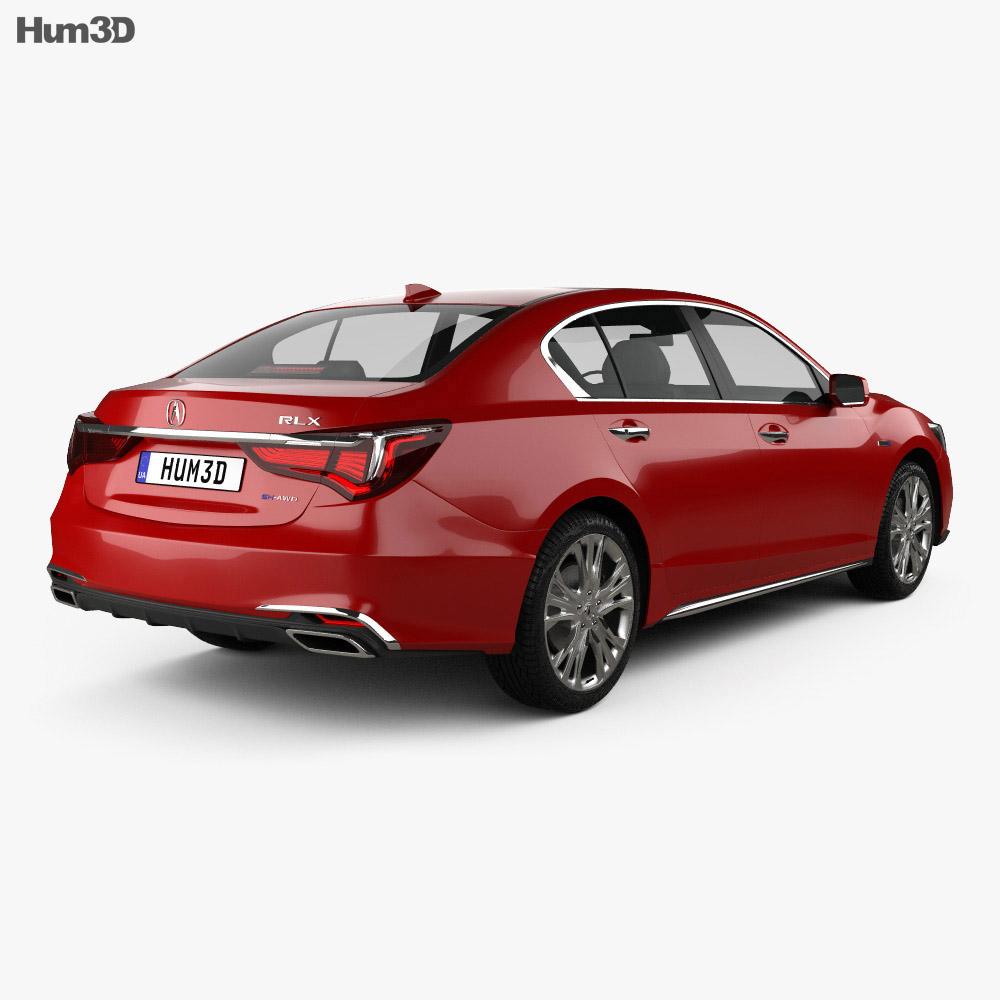 Acura RLX Sport Hybrid SH-AWD 2017 3d model