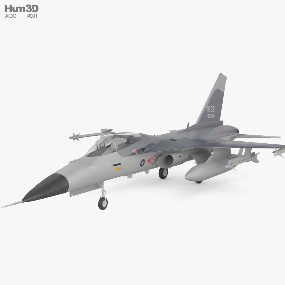 AIDC F-CK-1 Ching-kuo 3d model