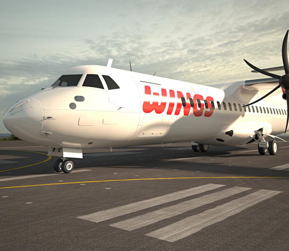 ATR 72 3d model
