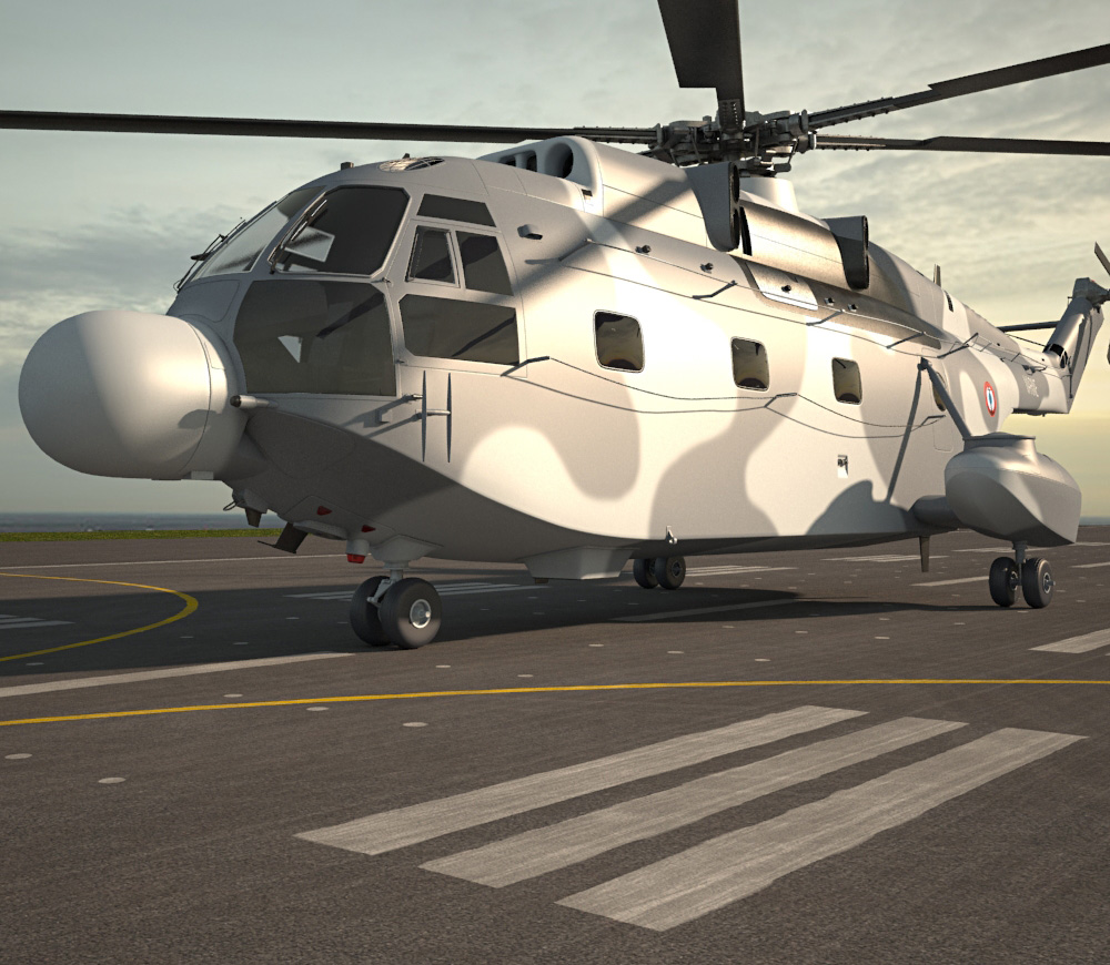 3D model of Aerospatiale SA-321 Super Frelon