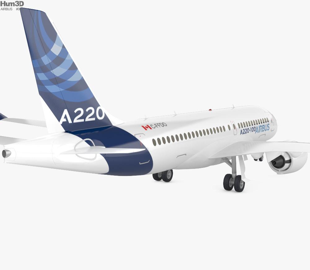 Airbus A220 100 3d model