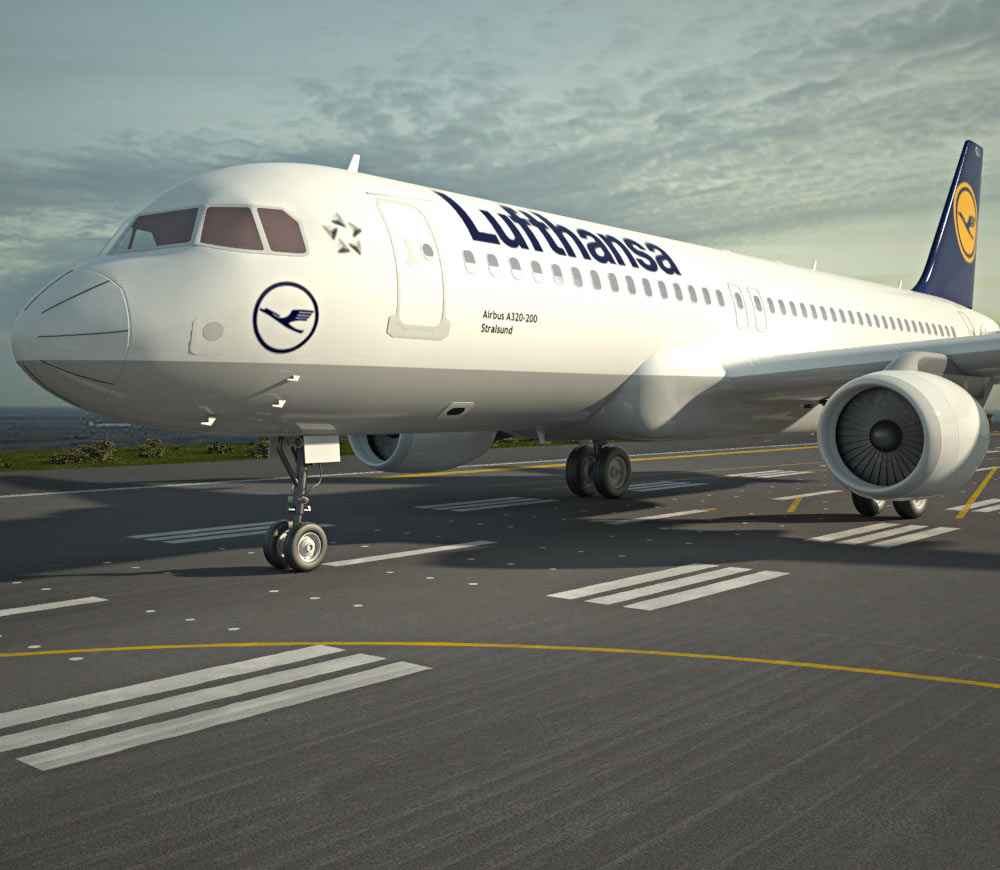 3D model of Airbus A320