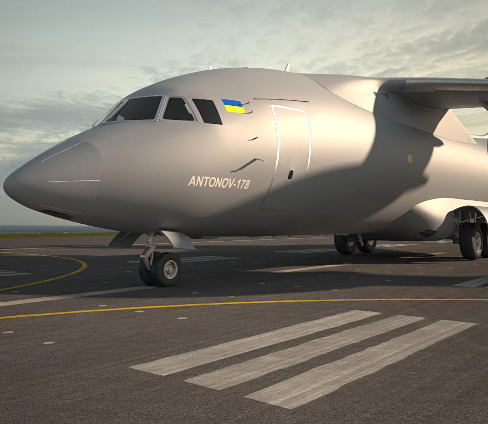 Antonov An-178 3d model