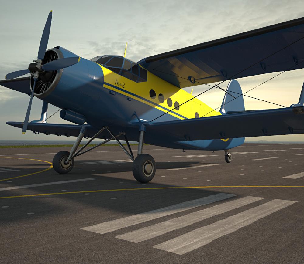 3D model of Antonov An-2
