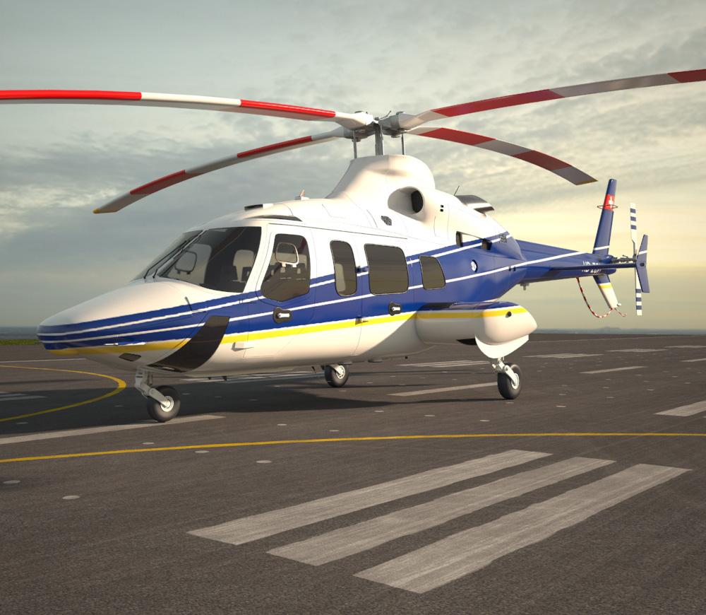 3D model of Bell 430