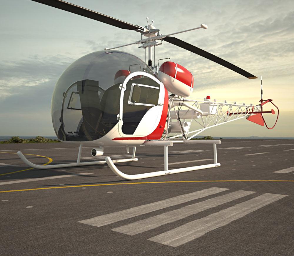 Bell 47 3d model