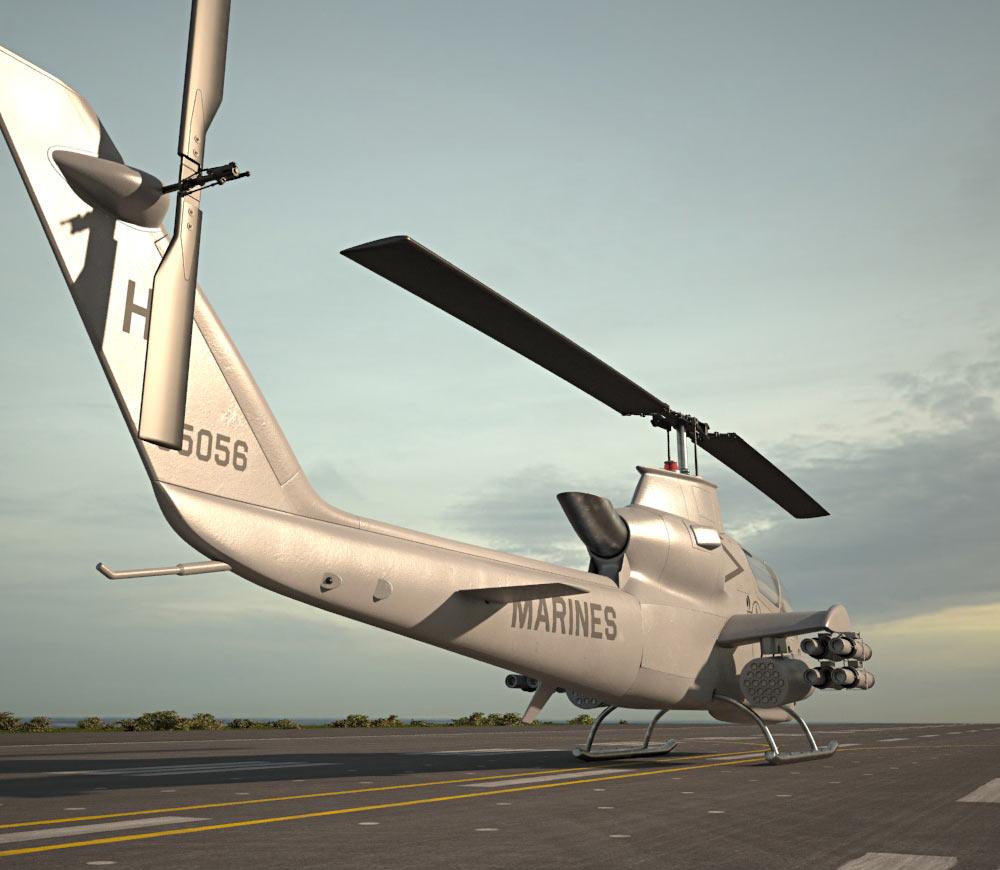 Bell AH-1 Cobra 3d model