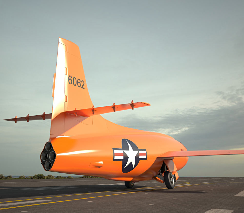 Bell X-1 3d model