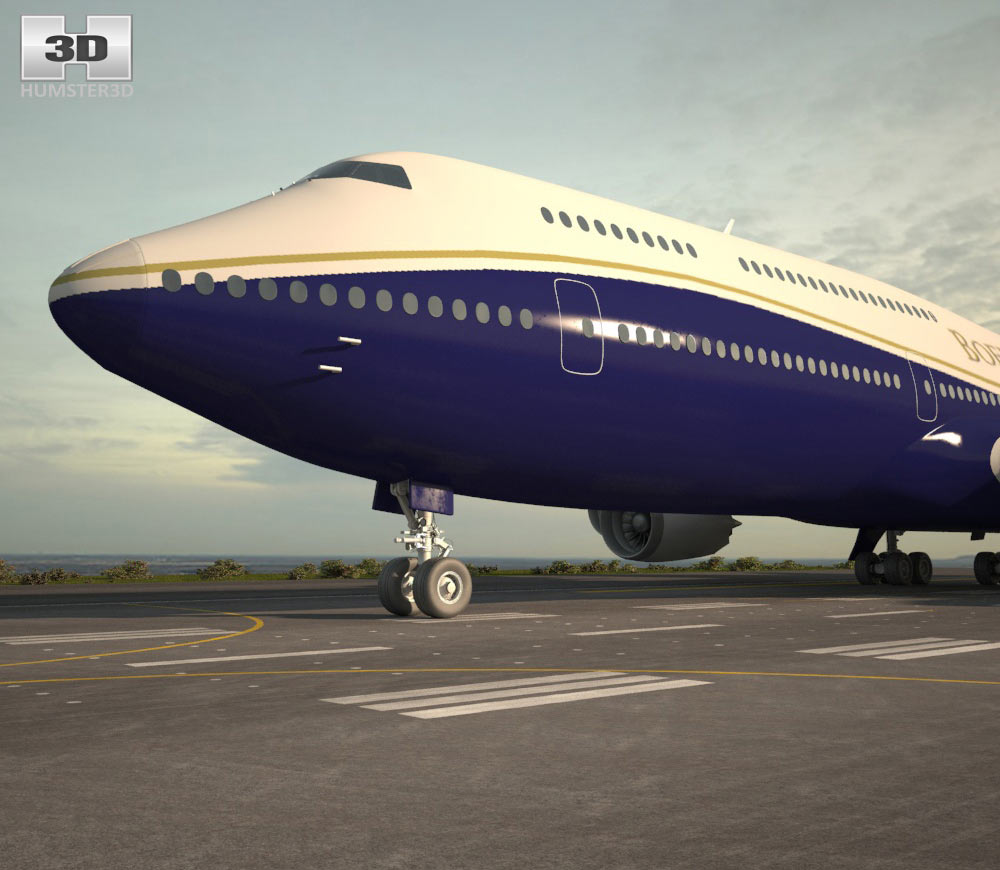 Boeing 747-8I Business Jets 3d model
