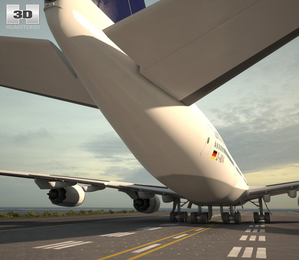 Boeing 747-8I Lufthansa 3d model