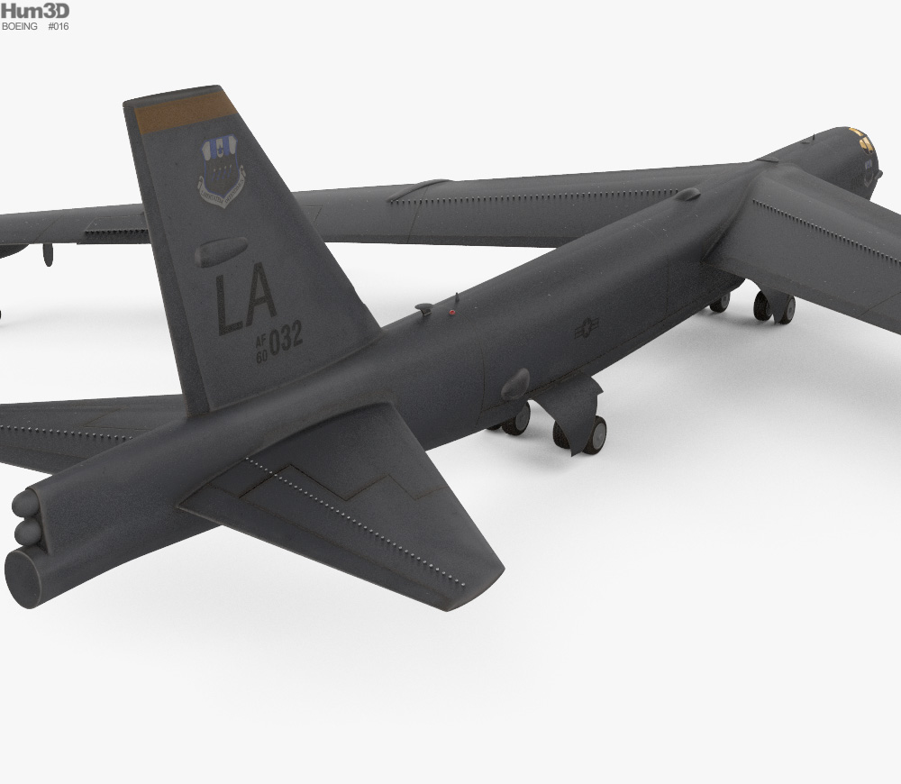 Boeing B-52 Stratofortress 3d model