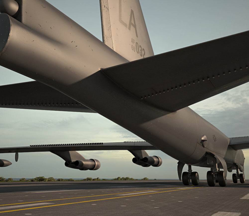 Boeing B-52 Stratofortress 3d model