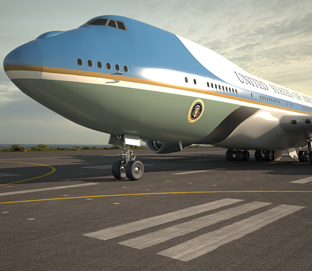 Boeing VC-25 Air Force One 3d model