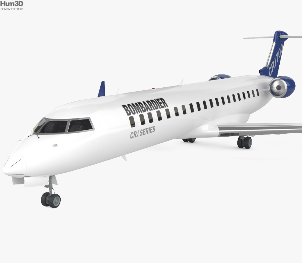 Bombardier CRJ700 series 3d model