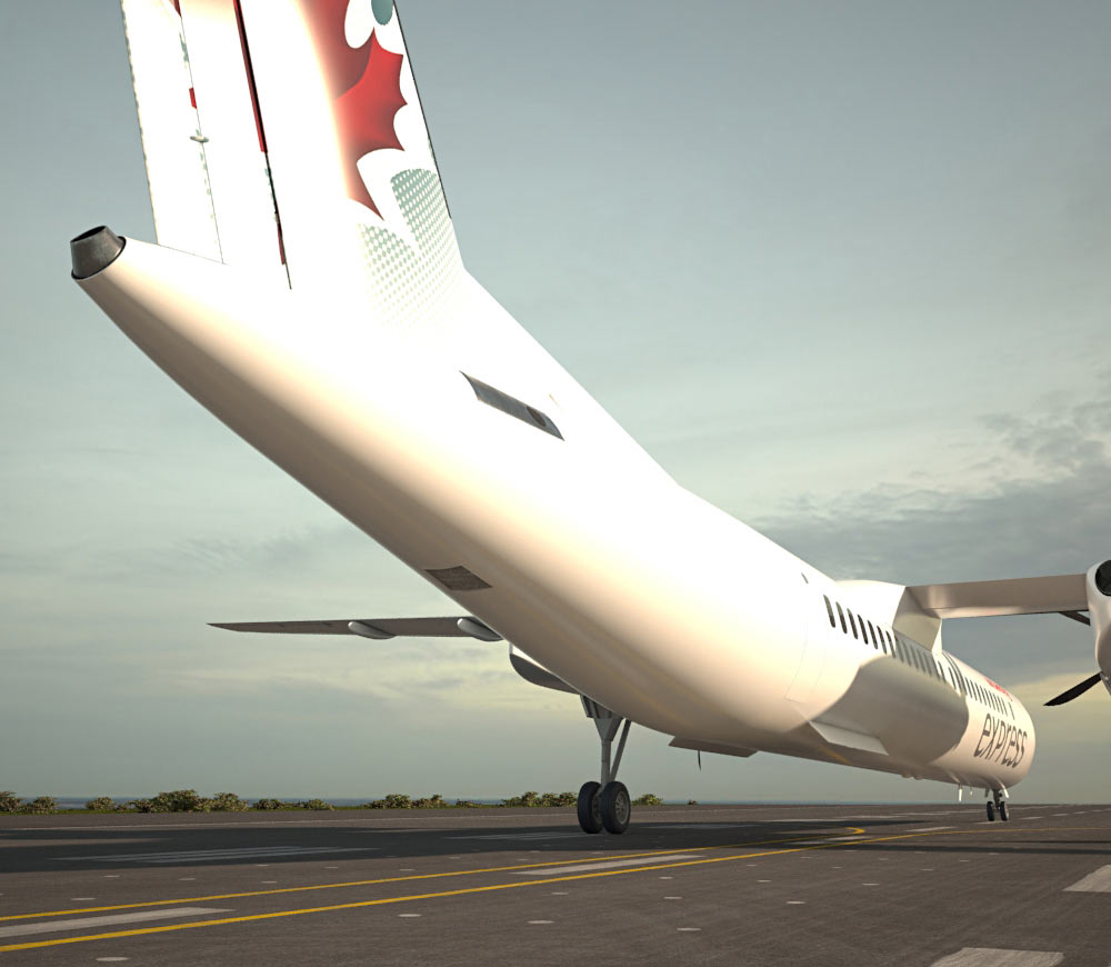 Bombardier Dash 8 3d model
