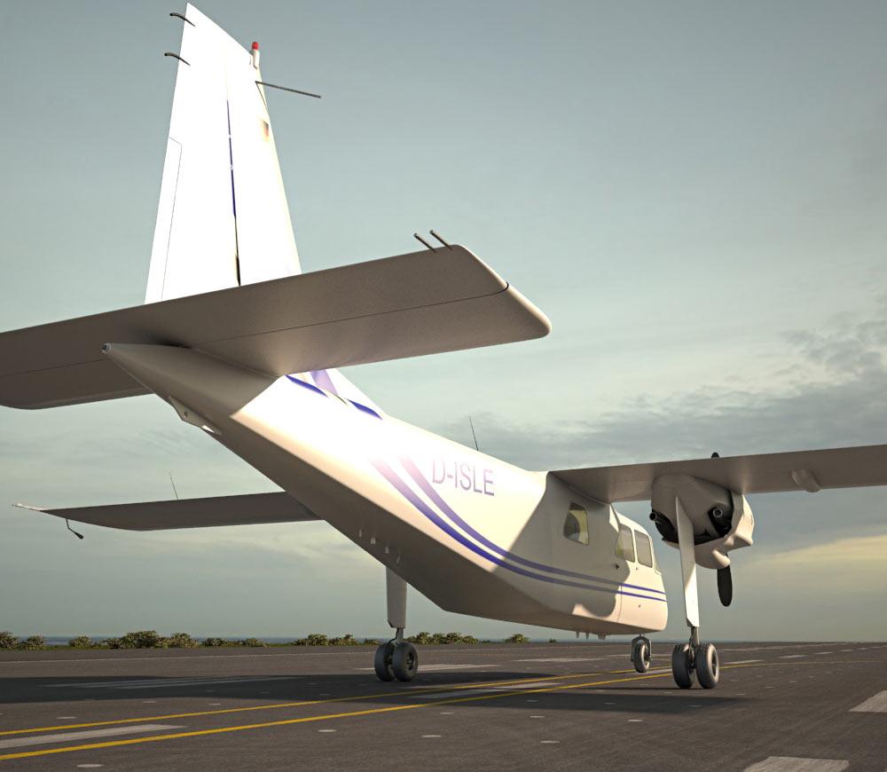 Britten-Norman BN-2 Islander 3d model