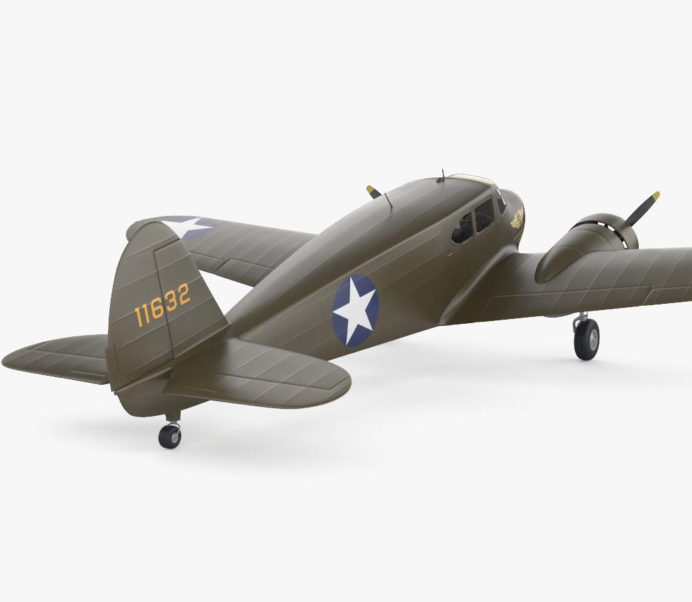 Cessna AT-17 Bobcat 3d model