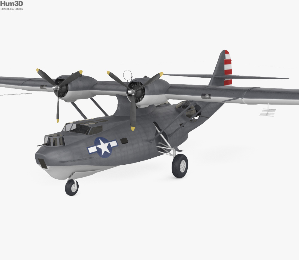Consolidated PBY Catalina 3d model