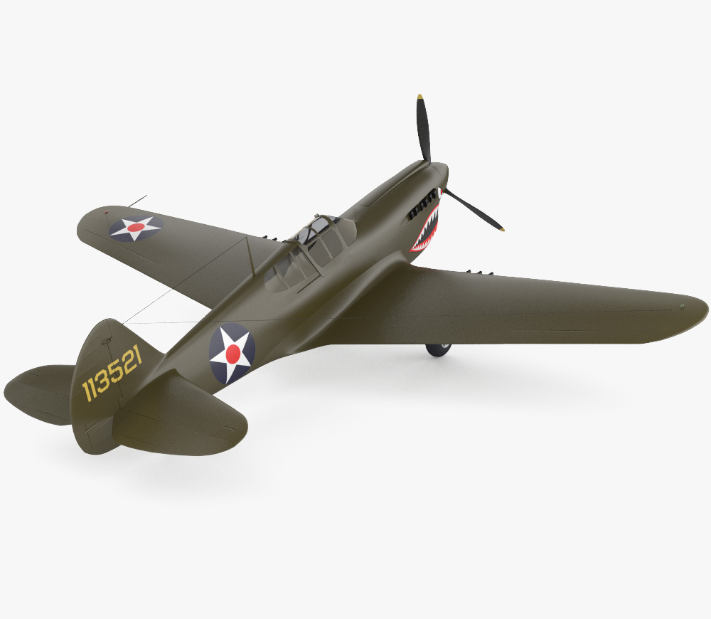 Curtiss P-40 Warhawk 3d model