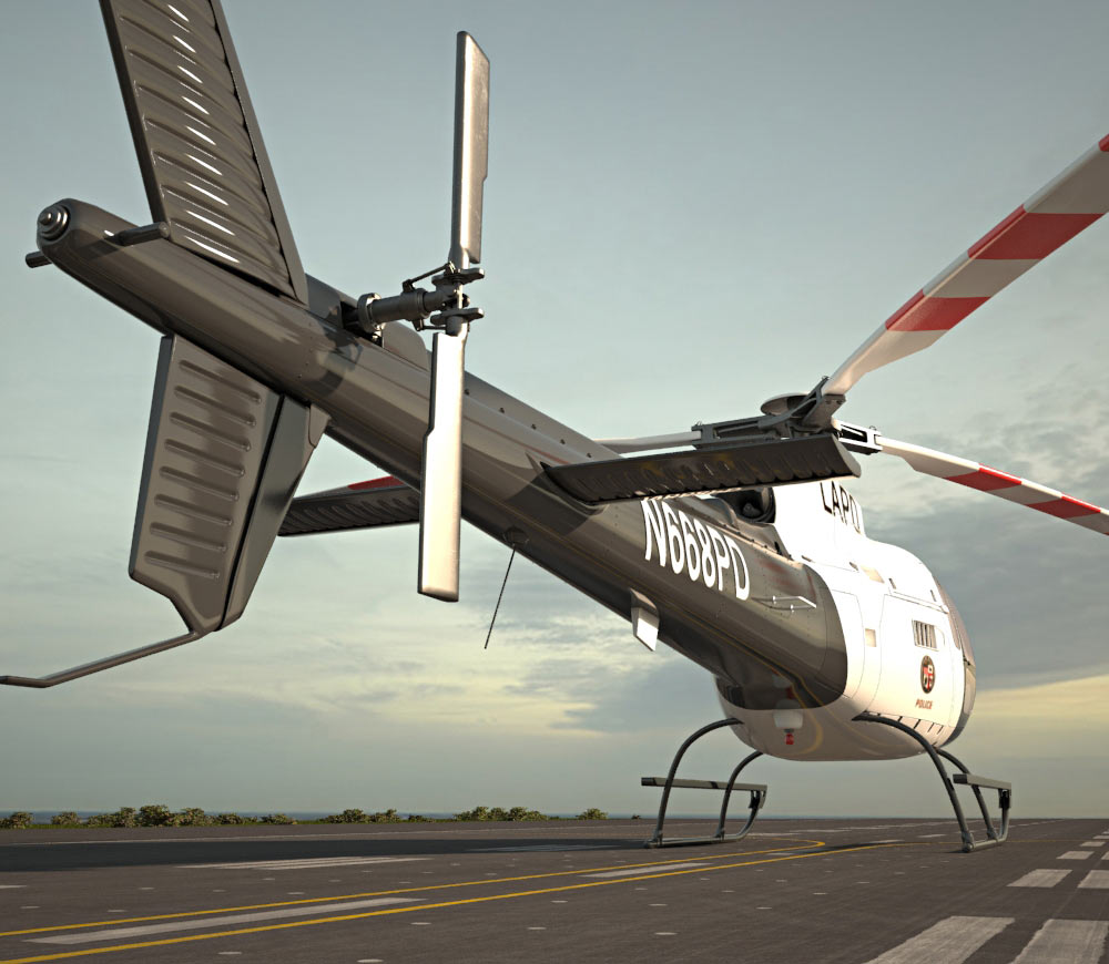 Eurocopter AS350 3d model