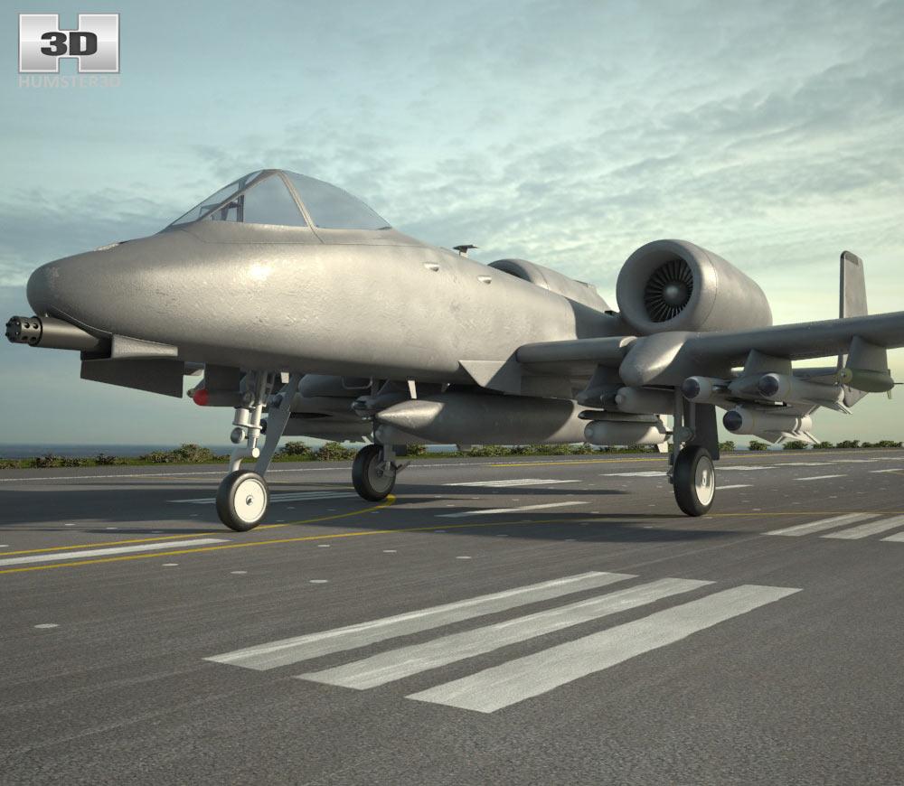 3D model of Fairchild Republic A-10 Thunderbolt II