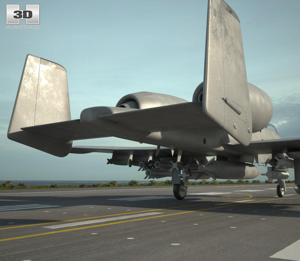 Fairchild Republic A-10 Thunderbolt II 3d model