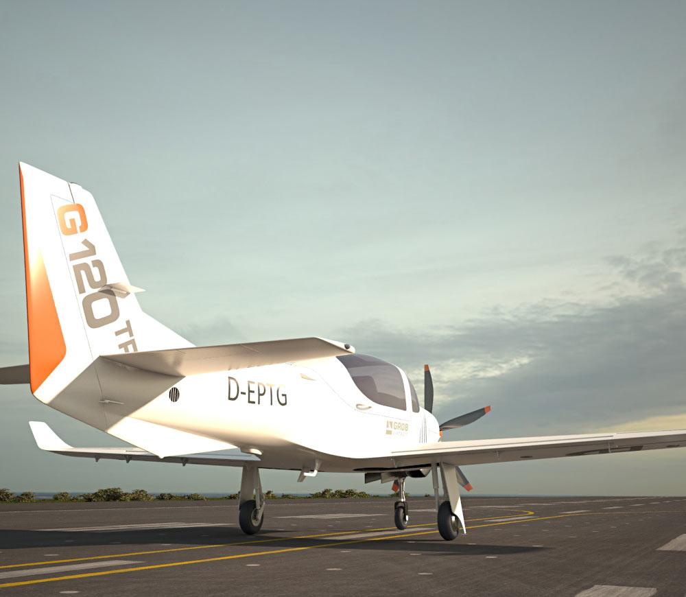 Grob G 120TP Aerobatic aircraft 3d model