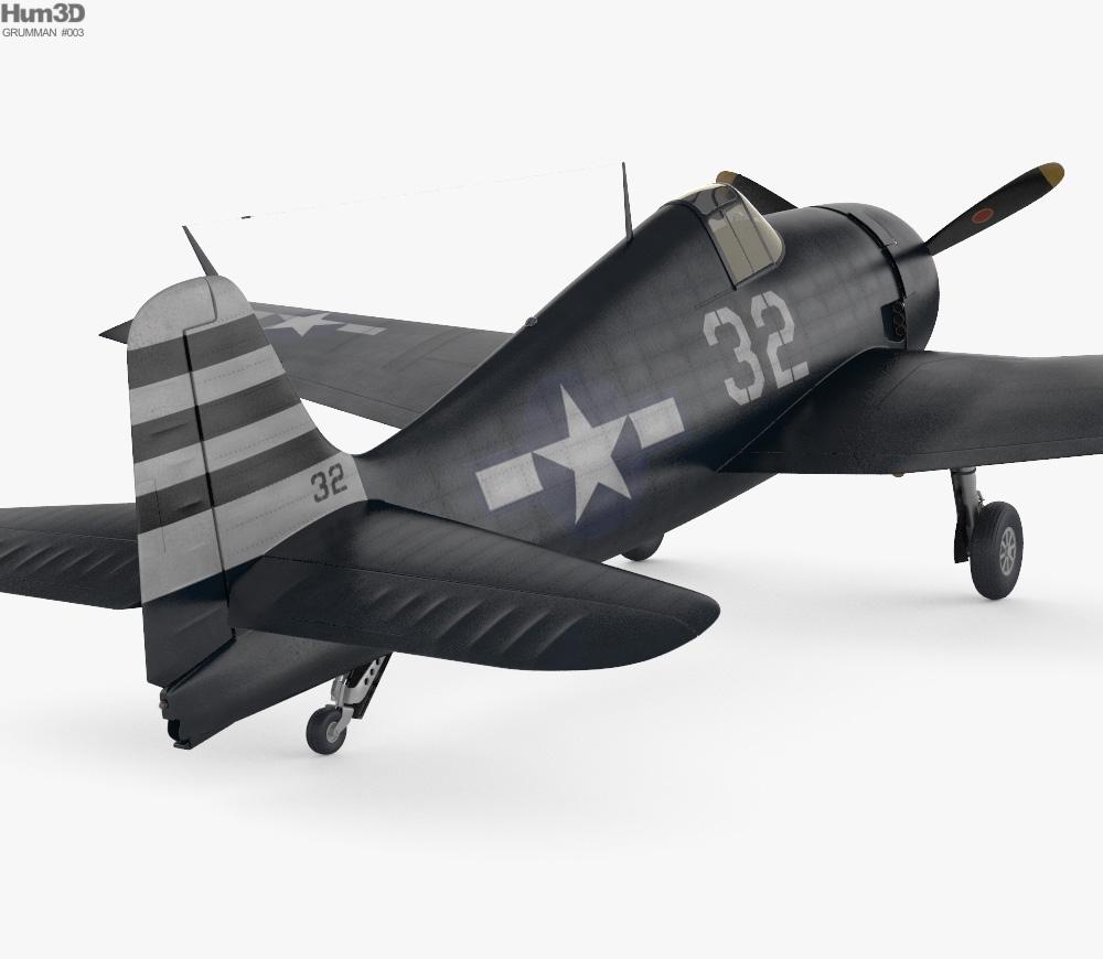 Grumman F6F Hellcat 3d model