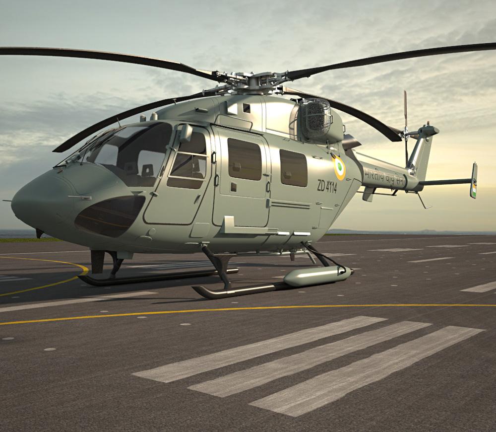 HAL Dhruv 3d model