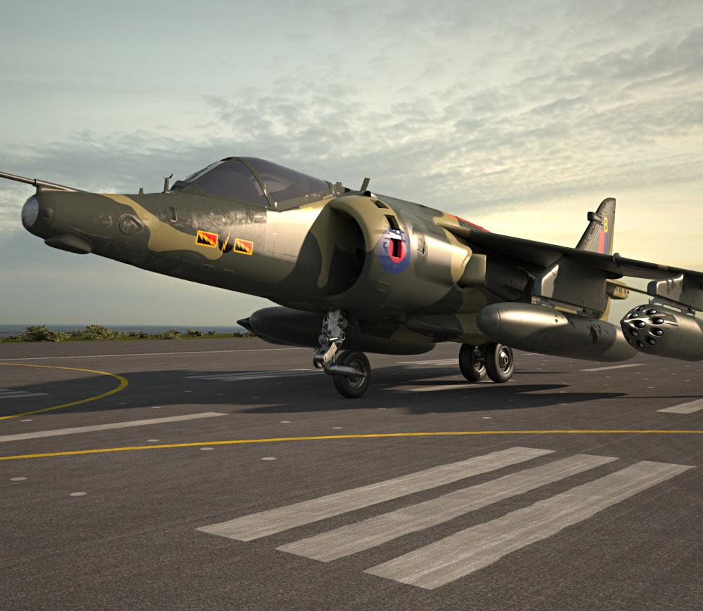 3D model of Hawker Siddeley Harrier