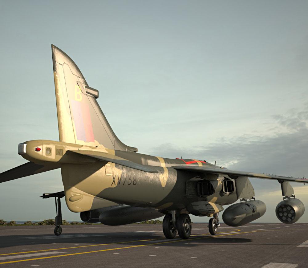 Hawker Siddeley Harrier 3d model