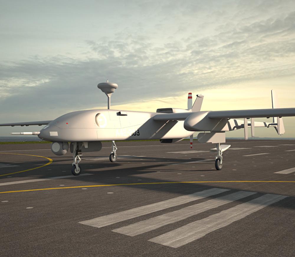 IAI Heron 3d model