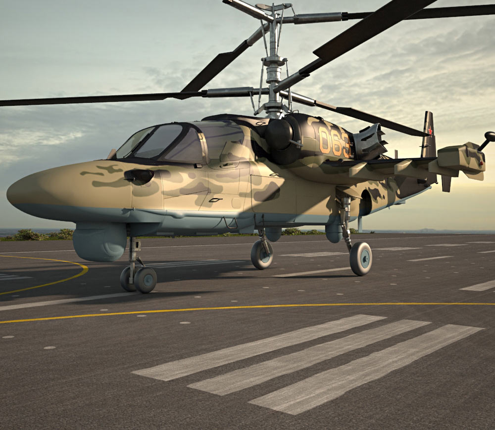 Kamov Ka-52 Alligator 3d model