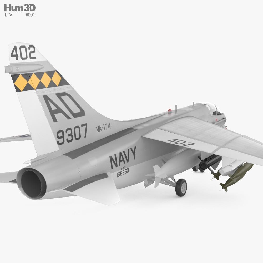 LTV A-7 Corsair II 3d model