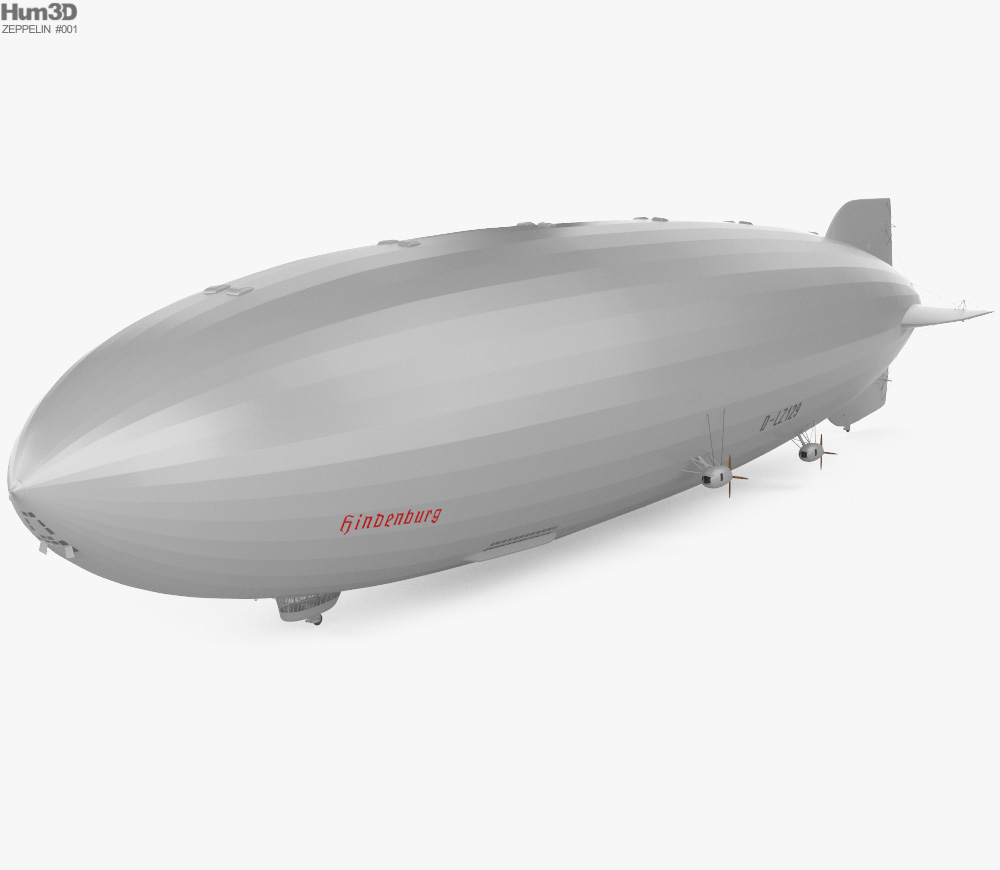 LZ 129 Hindenburg Zeppelin 3d model
