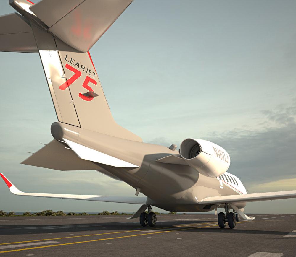 Learjet 75 3d model