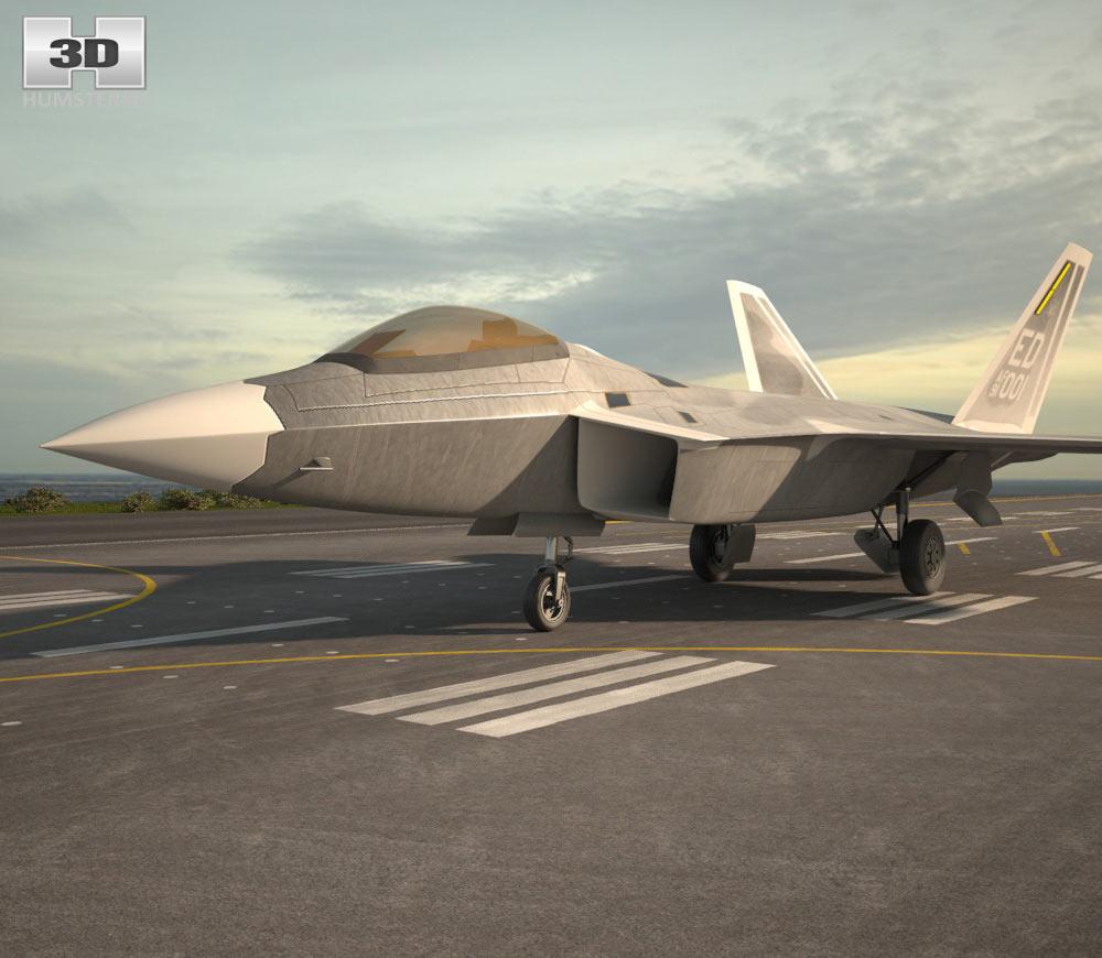 3D model of Lockheed Martin F-22 Raptor