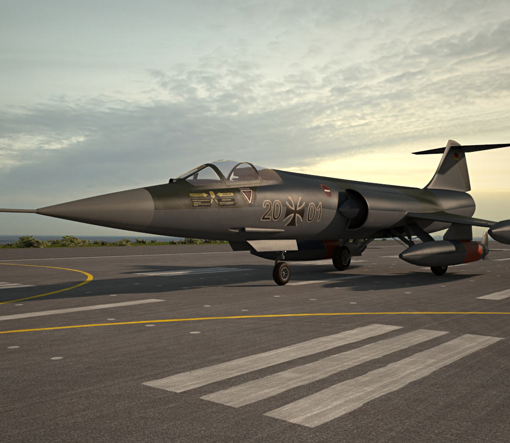Lockheed F-104 Starfighter 3d model
