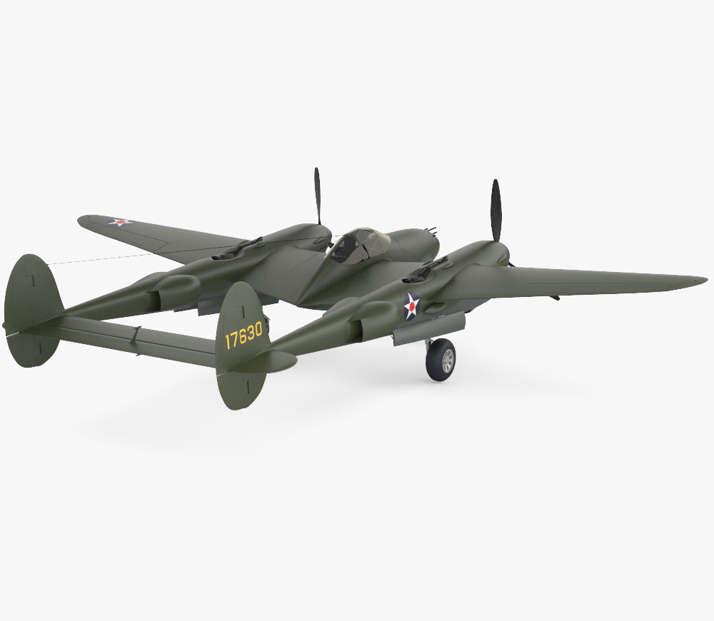 Lockheed P-38 Lightning 3d model