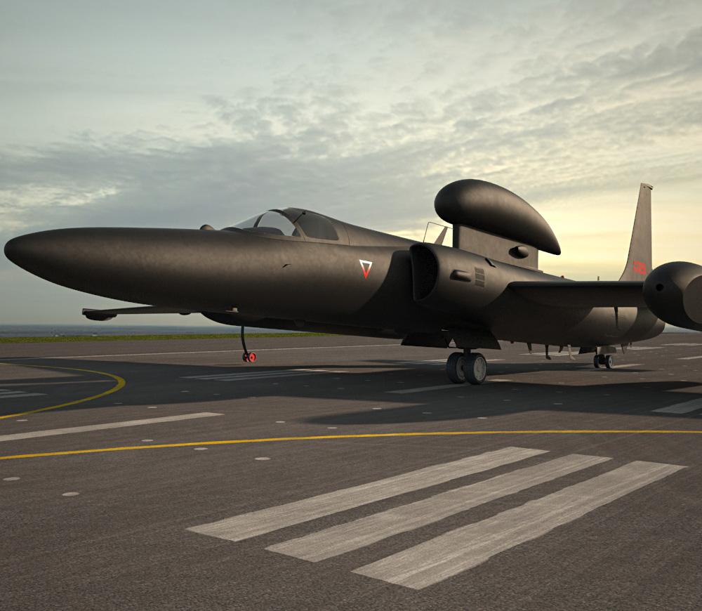Lockheed U-2S 3d model