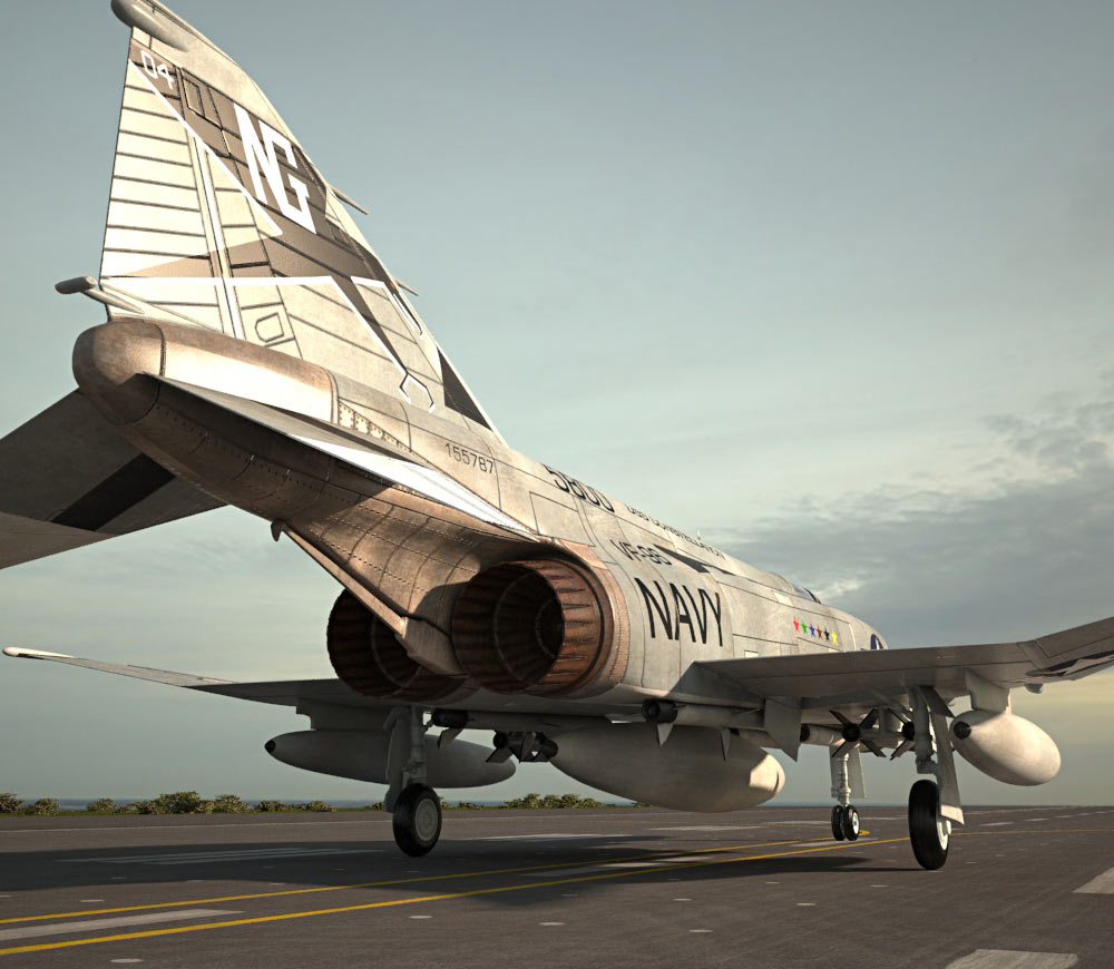McDonnell Douglas F-4 Phantom II 3d model